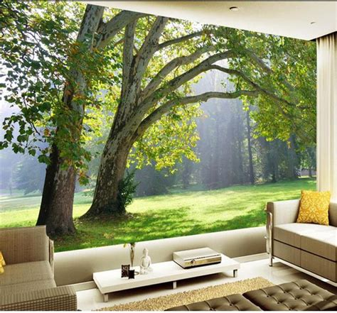 custom size  tree forest wall mural photo wallpaper