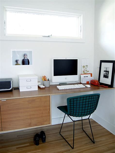office with bertoia chair and floating desk 171 the mid