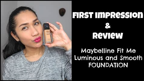 Maybelline Fit Me Foundation Indonesia review maybelline fit me luminous and smooth foundation