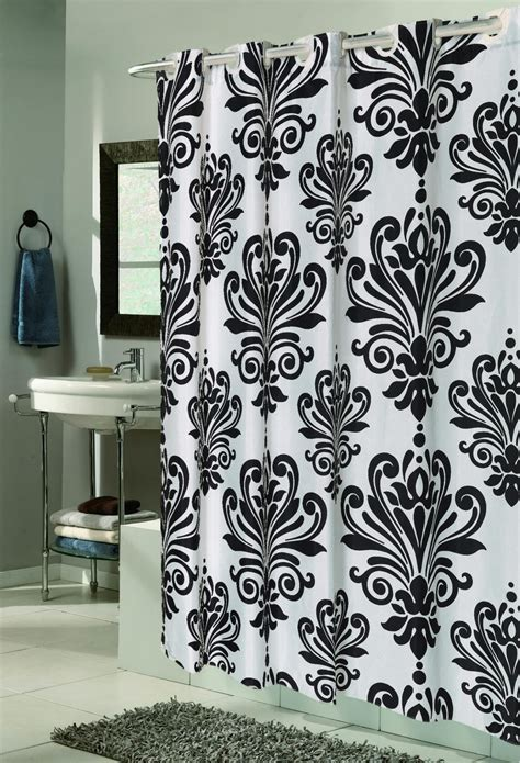 no hook shower curtains carnation home fashions inc quot ez on quot fabric shower