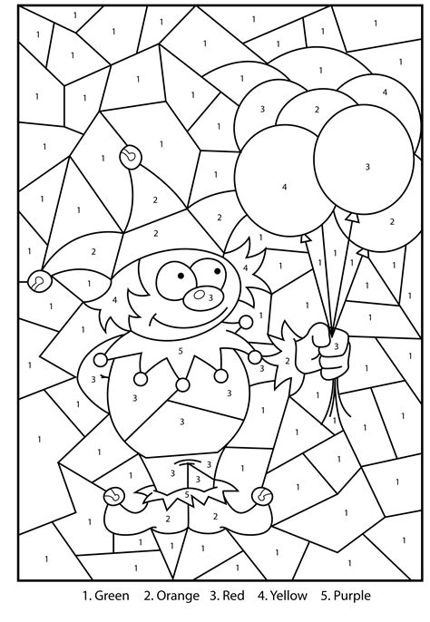 color by number coloring pages easy delighted easy coloring pages with numbers gallery