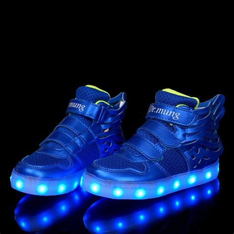 light up shoes for luminous wings led shoes mcbshoes