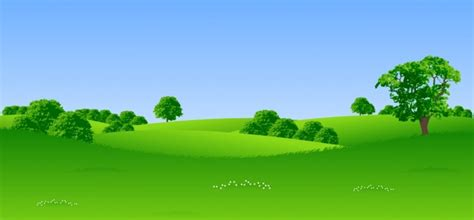 green trees landscape vector free vector in encapsulated