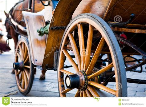 wood carriage royalty  stock image image