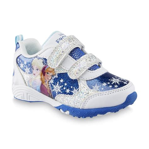 disney sneakers for toddlers disney toddler s frozen white blue sparkle athletic shoe