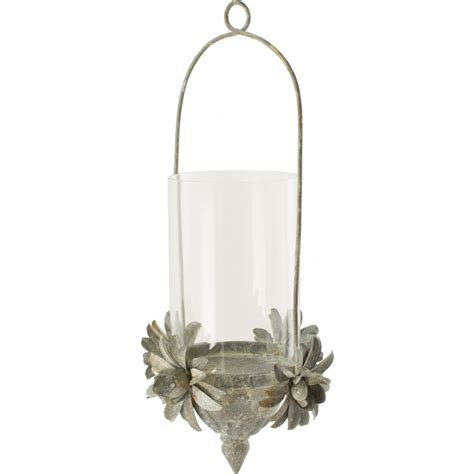 Hanging Candle Holders by 12 Quot Hanging Tin Flower Candle Holder Kq982338