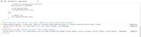 console log chrome console log timests in chrome exceptionshub