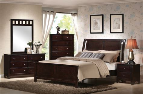 wood bedroom furniture sets pc bedroom set modern contemporary casual wood espresso brown