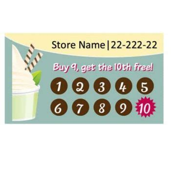 sle punch card template 30 printable punch reward card templates 101 free