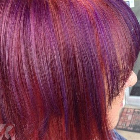 best purple shoo for highlights purple and red hair highlights www pixshark com images