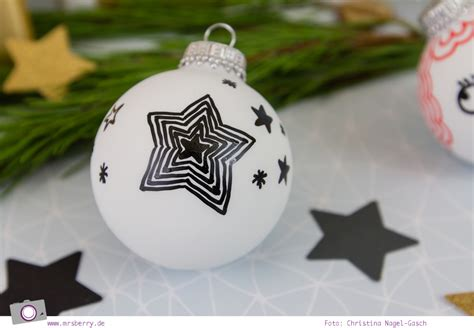 Christbaumkugeln Selbst Bemalen by Weihnachtsdeko Diy Weihnachtskugeln Selbst Bemalen