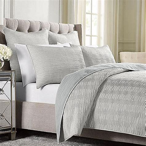silver coverlet wamsutta 174 serenity quilted coverlet in silver wamsutta