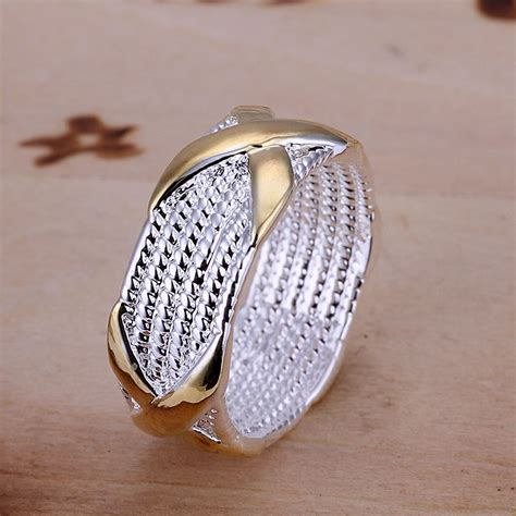 free shipping 925 sterling silver ring fashion color