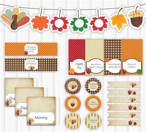 printable thanksgiving turkey decorations 30 free thanksgiving printables thesuburbanmom