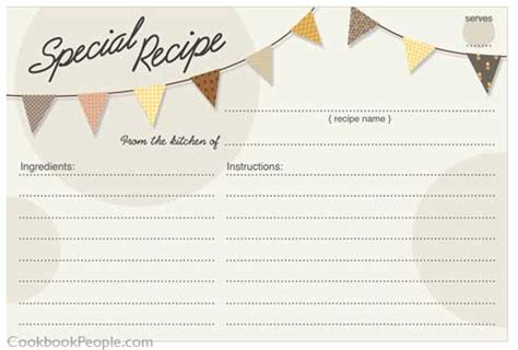 salsa recipe card template 300 free printable recipe cards