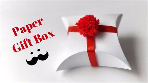 How To Make A Present Out Of Paper - how to make a gift box out of paper easy