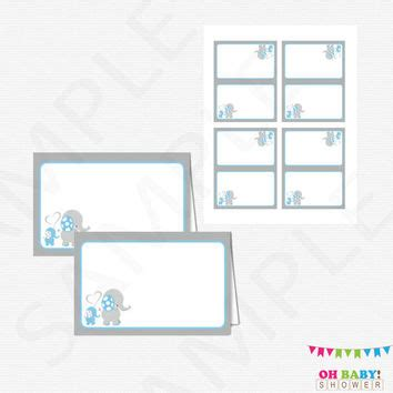 baby shower place cards template best blue and gray elephant baby shower products on wanelo