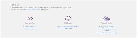 ionic tutorial weather getting started with ionic 2 apps in visual studio 2017