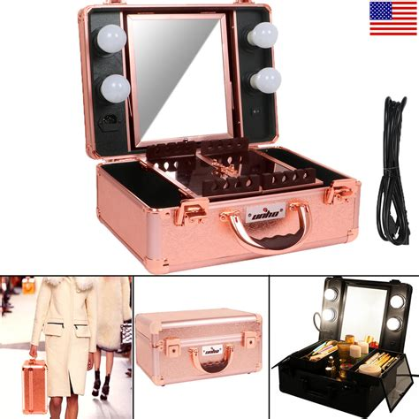 makeup box with lights and mirror unho studio togo makeup case organizer lighted mirror