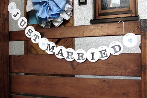 Just Married Girlande by Girlande Archive Renna Deluxe