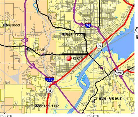 zip code map peoria il map of illinois cities peoria