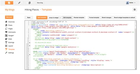 Edit Html Template official improvements to the template html editor
