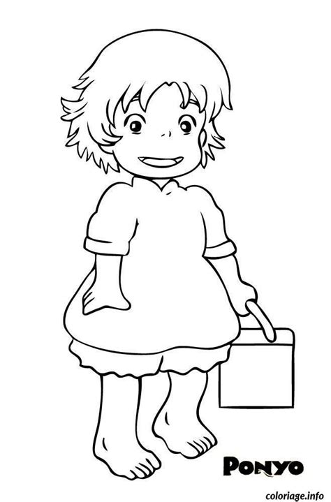 coloring pages ponyo coloriage ponyo petite fille dessin 224 imprimer