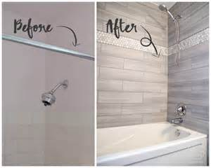 remodelaholic how to update a tile shower amp tub in a weekend 25 best ideas about small half bathrooms on pinterest