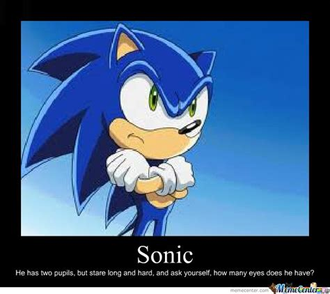 Sonic X Memes - how many eyes does sonic have by otaku meme center