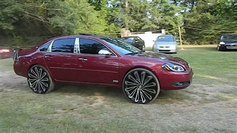 2008 impala on rims chevy impala on 26 quot wheels at ms whips car