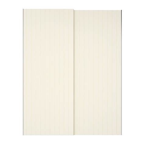Ikea Bookcases White Bergsfjord Pair Of Sliding Doors White 150x236 Cm Ikea