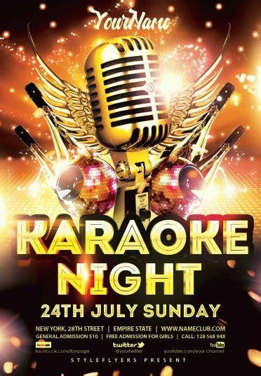 flyer template karaoke night party karaoke night psd flyer template 8852 styleflyers