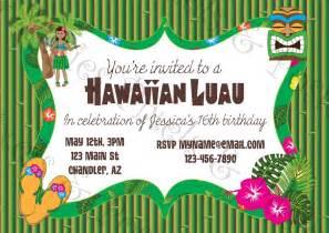 free printable luau birthday party invitations