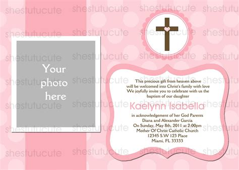 baptism photo card template baptism invitations digital file by shestutucutebtq