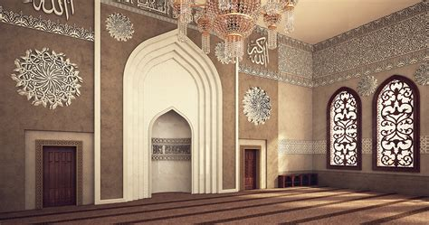 design masjid photoshop el rayan mosque interior design on behance
