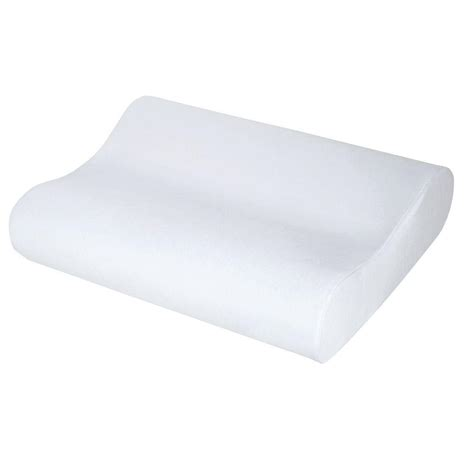 memory foam molded contour pillow f pil 13200 cp wht the