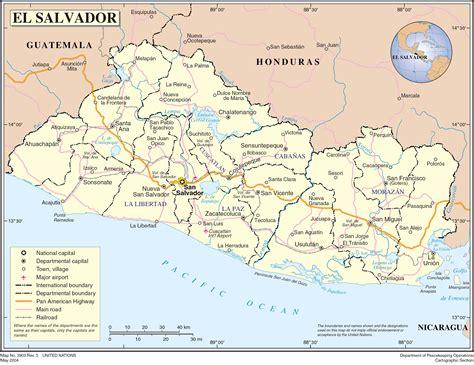 map of el salvador large detailed political map of el salvador with roads and cities el salvador large detailed
