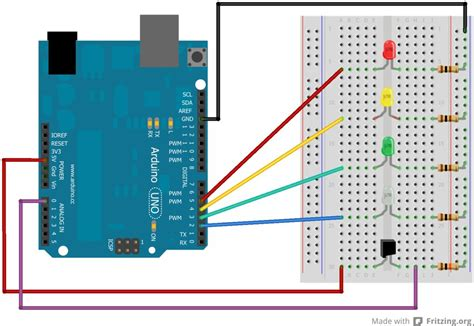 Arduino Street Traffic Light Breadboard Edition Use Led Light Arduino