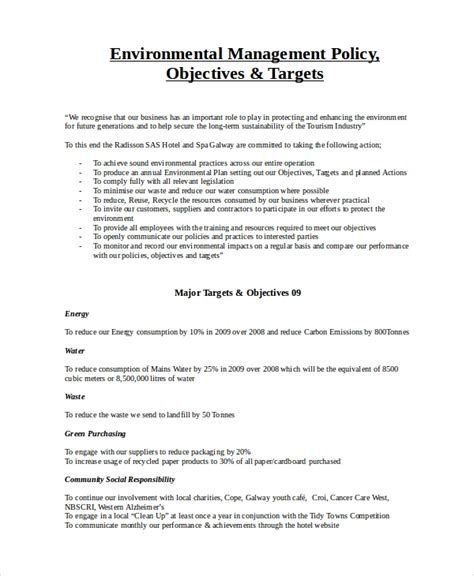 document management policy template 7 environmental policy templates free premium templates