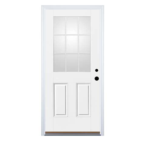 Half Doors Lowes by Shop Therma Tru Benchmark Doors 2 Panel Insulating 9