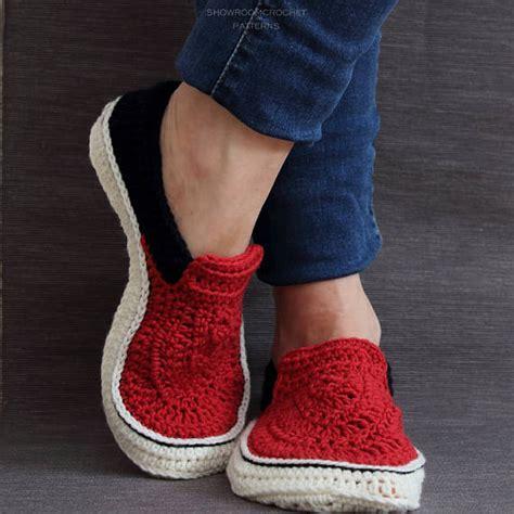 crochet pattern for vans slippers crochet pattern vans style slippers