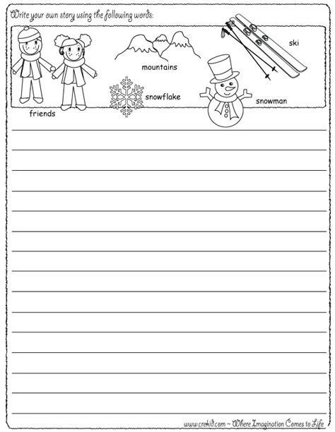 sle of kindergarten writing winter grade creative writing worksheets winter best free printable worksheets