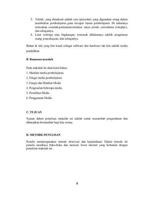 format makalah pembelajaran makalah media pembelajaran
