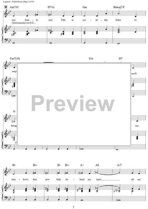 rose theme piano chords faded roses noelle s theme sheet music for piano and