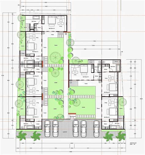 inspirasi desain rumah kost sederhana yang nyaman rooang