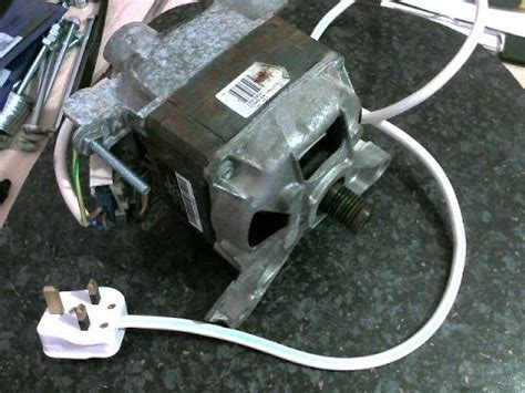 how to wire up a washing machine motor