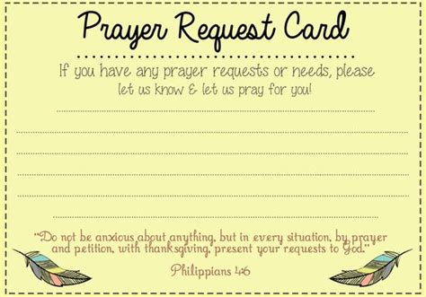 prayer request cards 4x4 template prayer request card ideas and prayer on