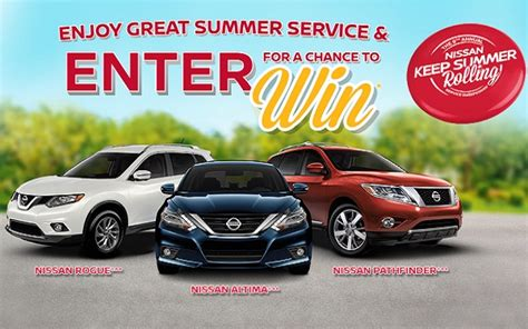 Nissan Summer Sweepstakes 2017 - nissan keep summer rolling service sweepstakes sweepstakesbible