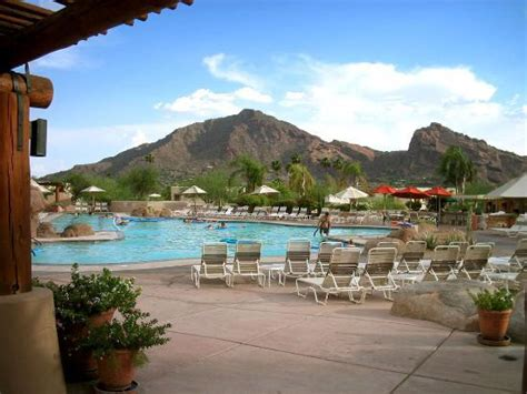 Marriott Background Check Jackrabit Pool With Camelback Mountain In Background