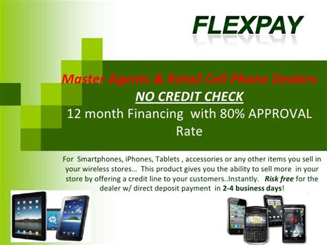 no credit check cell phone customer financing